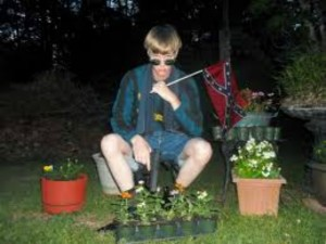 Dylann Roof, gun and flag